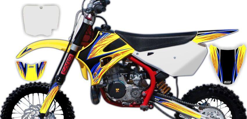DeCal Works: Semi Custom Full Dirt Bike Graphics Kits