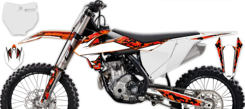 DeCal Works: Semi Custom Full Dirt Bike Graphics Kits