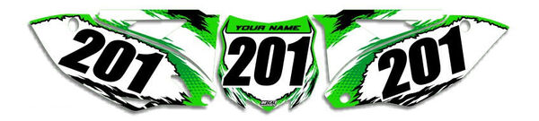 Image Preview of T-8 Series Number Plate Graphics Kit with Airbox