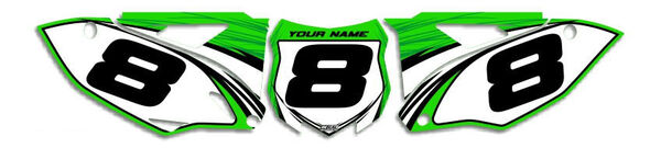 Image Preview of T-9 Series Number Plate Graphics Kit with Airbox