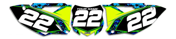 Image Preview of Digital Camo Series Number Plate Graphics Kit with Airbox
