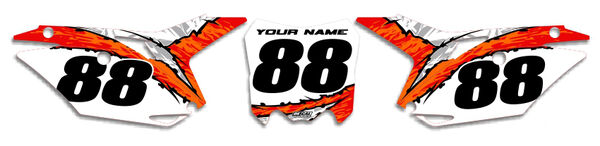 Image Preview of T-10 Series Number Plate Graphics Kit with Airbox