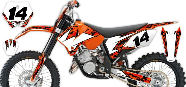 Semi Custom Complete Graphics Kit KTM SX125 (2 Stroke) 2003 Traditional Camo Series