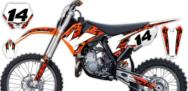 Semi Custom Complete Graphics Kit KTM SX85 (2 Stroke) 2006 Traditional Camo Series