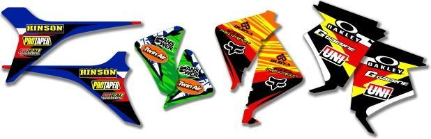 MX Graphics Dirt Bike Airbox Decals