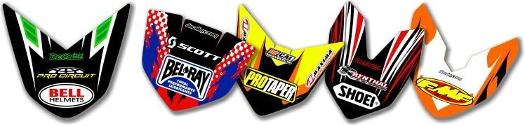 MX Graphics Dirt Bike Front Fender Tip Decals