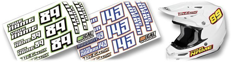 MX Graphics Dirt Bike Helmet Kit DeCals