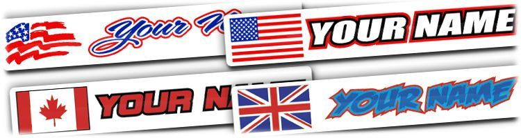 MX Graphics Dirt Bike Name Flag Decals