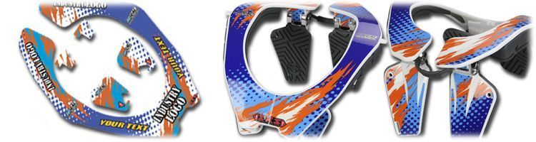 MX Graphics Dirt Bike Neck Brace Decals