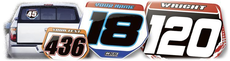 MX Graphics Dirt Bike Novelty Decals