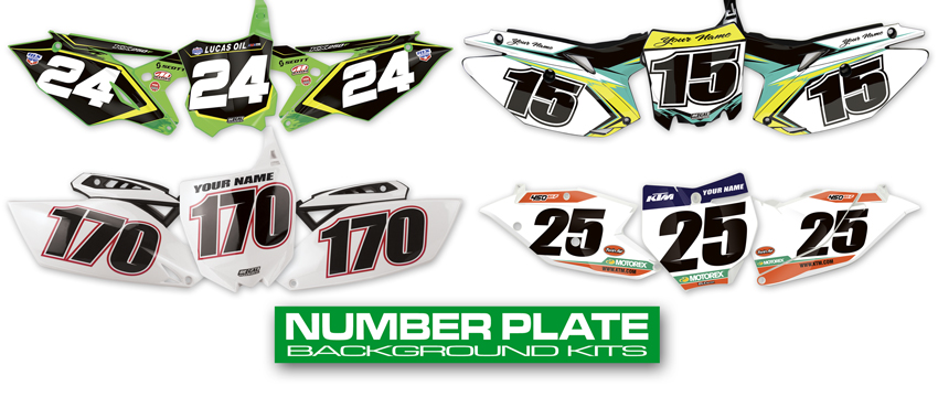 Mx graphics dirt bike number plate decals