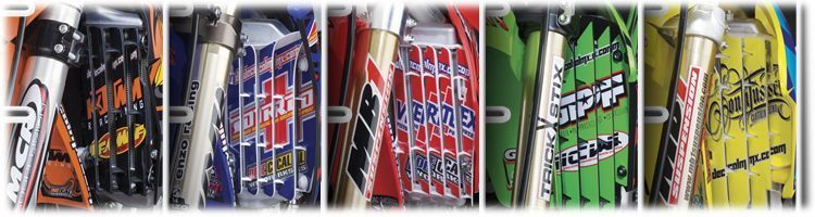 MX Graphics Dirt Bike Rad Louver Decals