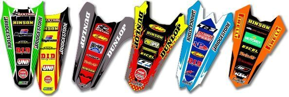 MX Graphics Dirt Bike Rear Fender Decals