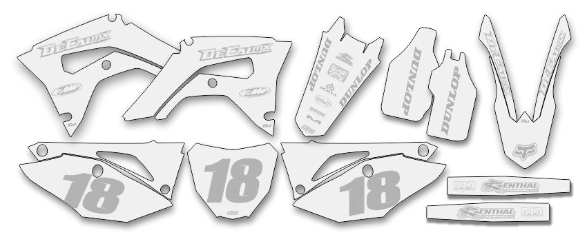 MX Graphics Dirt Bike Decals Semi Custom Complete Kit