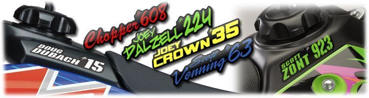 MX Graphics Dirt Bike Tank Name Decals
