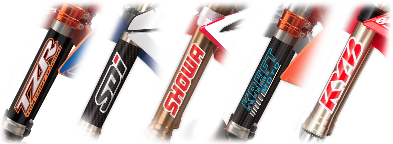 MX Graphics Dirt Bike Upper Fork Tube Decals