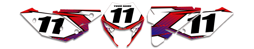 MX Graphics Dirt Bike Decals Beta T-11 Number Plates