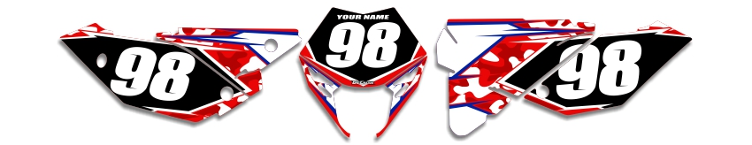MX Graphics Dirt Bike Decals Beta Traditional Camo Number Plates