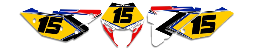 MX Graphics Dirt Bike Decals Beta T-15 Number Plates