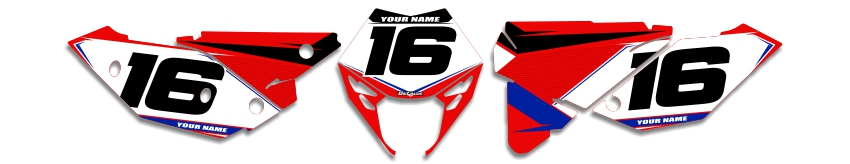 MX Graphics Dirt Bike Decals Beta T-16 Number Plates
