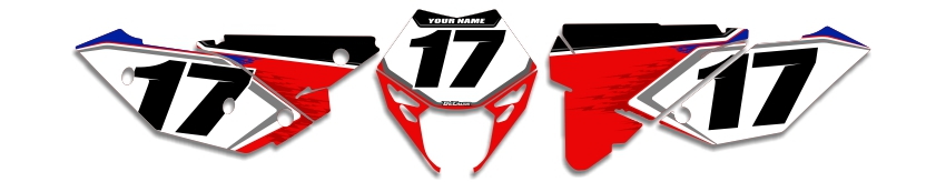 MX Graphics Dirt Bike Decals Beta T-17 Number Plates