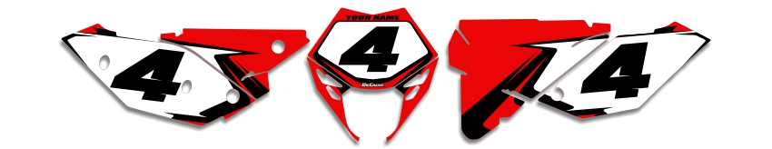 MX Graphics Dirt Bike Decals Beta T-4 Number Plates