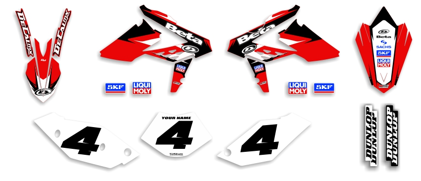 MX Graphics Dirt Bike Decals Beta Garage Sale Series Complete Graphics