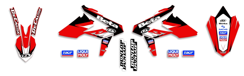 MX Graphics Dirt Bike Decals Beta Garage Sale Series Full Graphics