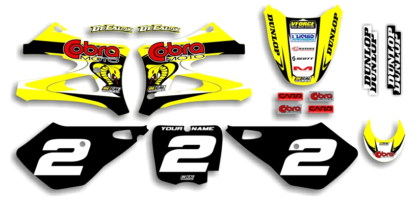 MX Graphics Dirt Bike Decals Cobra Garage Sale Series Complete Graphics