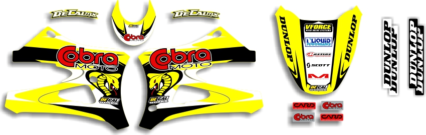 MX Graphics Dirt Bike Decals Cobra Garage Sale Series Full Graphics