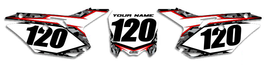 MX Graphics Dirt Bike Decals Honda Traditional Camo Number Plates