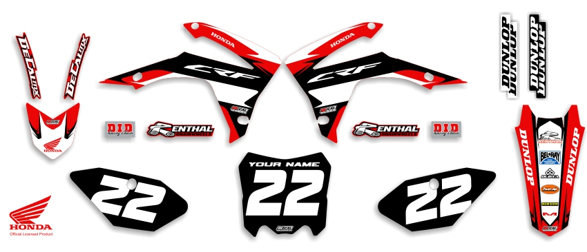 MX Graphics Dirt Bike Decals Honda Garage Sale Series Complete Graphics