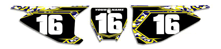MX Graphics Dirt Bike Decals Husqvarna Traditional Camo Number Plates