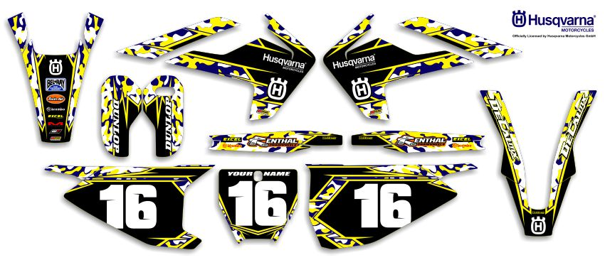 DeCal Works Ready Made Complete Dirt Bike Graphics Kits - Decal works graphicsdecal works camo graphics youtube