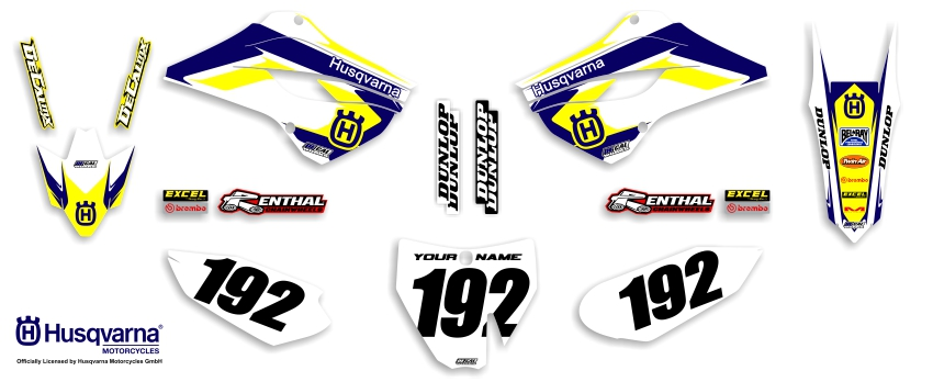 MX Graphics Dirt Bike Decals Husqvarna Garage Sale Series Complete Graphics