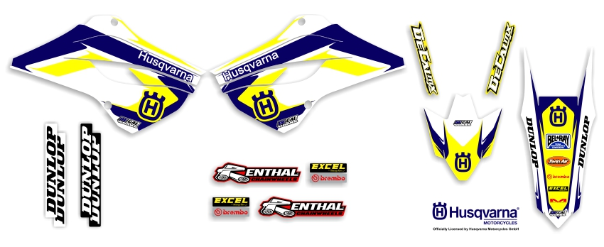 MX Graphics Dirt Bike Decals Husqvarna Garage Sale Series Full Graphics