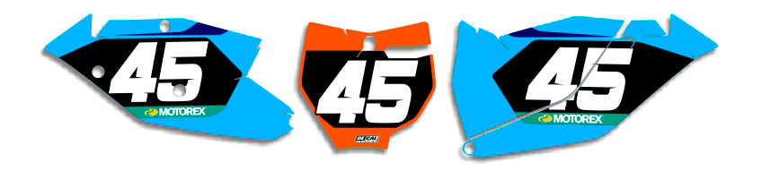 MX Graphics Dirt Bike DeCals KTM Factory Series 12 Number Plates