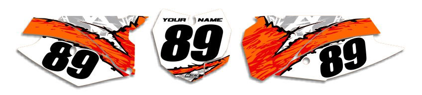 MX Graphics Dirt Bike Decals KTM T-10 Number Plates