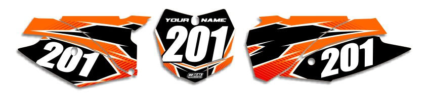 MX Graphics Dirt Bike Decals KTM T-11 Number Plates