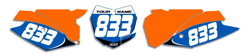 MX Graphics Dirt Bike Decals KTM T-1 Number Plates