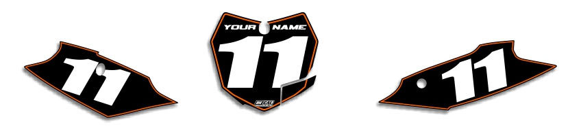 MX Graphics Dirt Bike Decals KTM Bold Number Plates