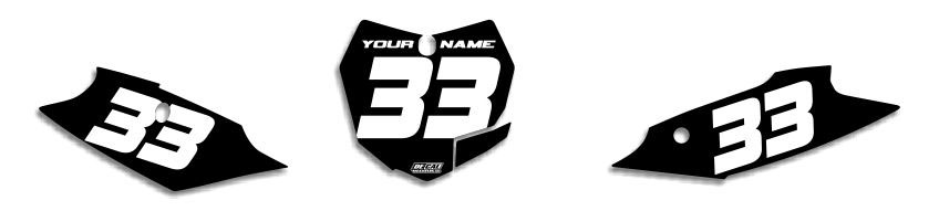 MX Graphics Dirt Bike Decals KTM EZ Number Plates