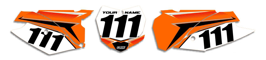 MX Graphics Dirt Bike Decals KTM T-12 Number Plates
