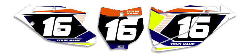 MX Graphics Dirt Bike Decals KTM T-16 Number Plates