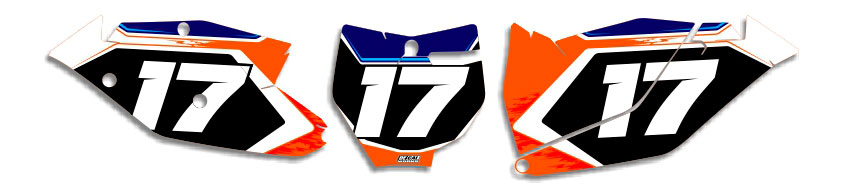 MX Graphics Dirt Bike Decals KTM T-17 Number Plates