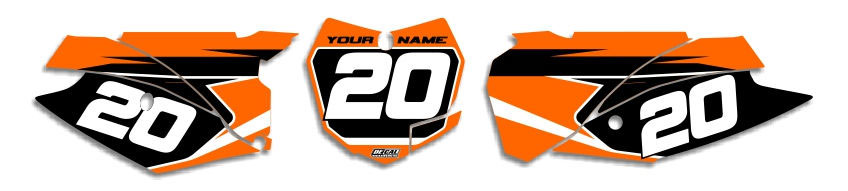 MX Graphics Dirt Bike Decals KTM T-3 Number Plates