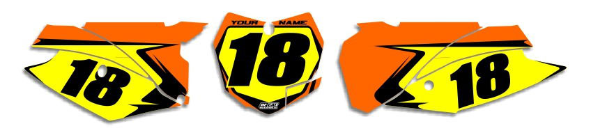 MX Graphics Dirt Bike Decals KTM T-4 Number Plates