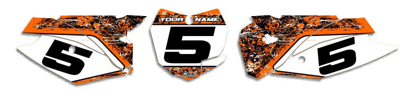 MX Graphics Dirt Bike Decals KTM T-5 Number Plates