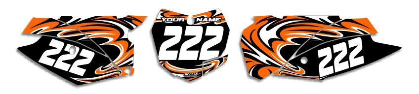 MX Graphics Dirt Bike Decals KTM T-7 Number Plates