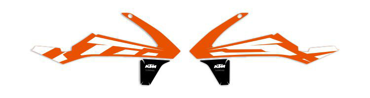 MX Graphics Dirt Bike Decals KTM OEM Replica Series Rad Graphics